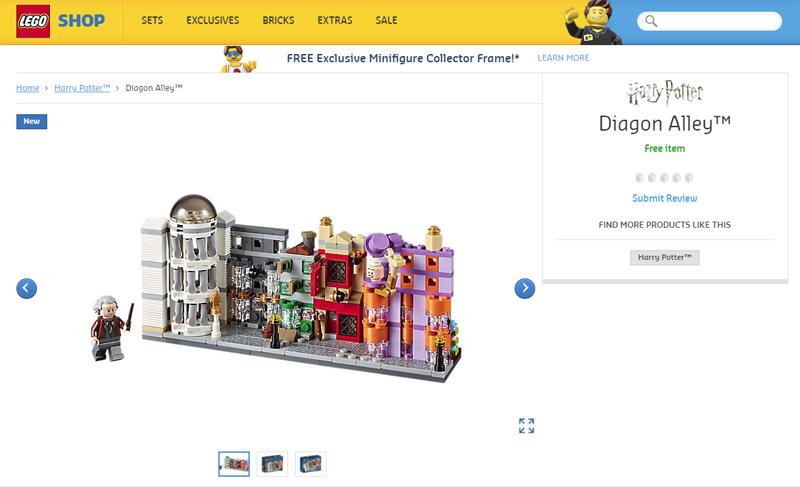 Lego Harry Potter Diagon Alley 40289 Coming In November