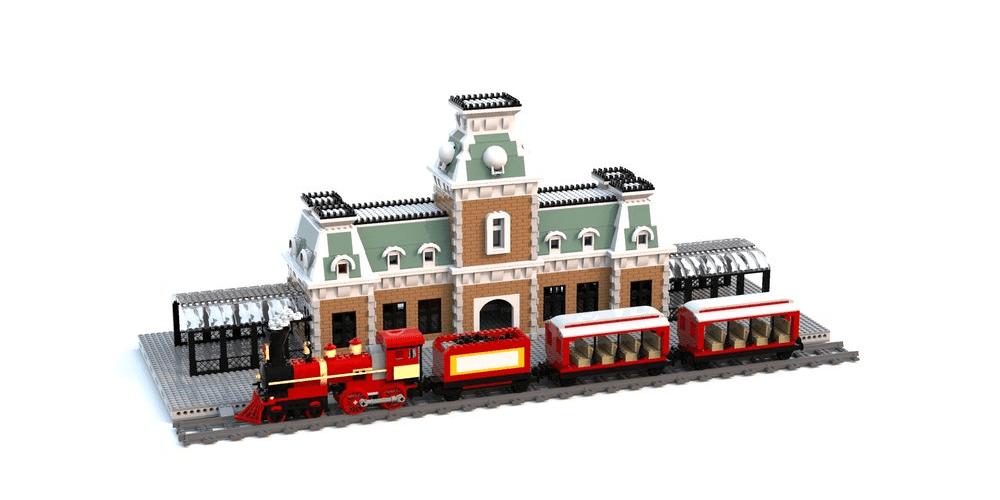 "LEGO Ideas Promotes PI that Deserves Support: ""Disney World Main Street Train Station"""