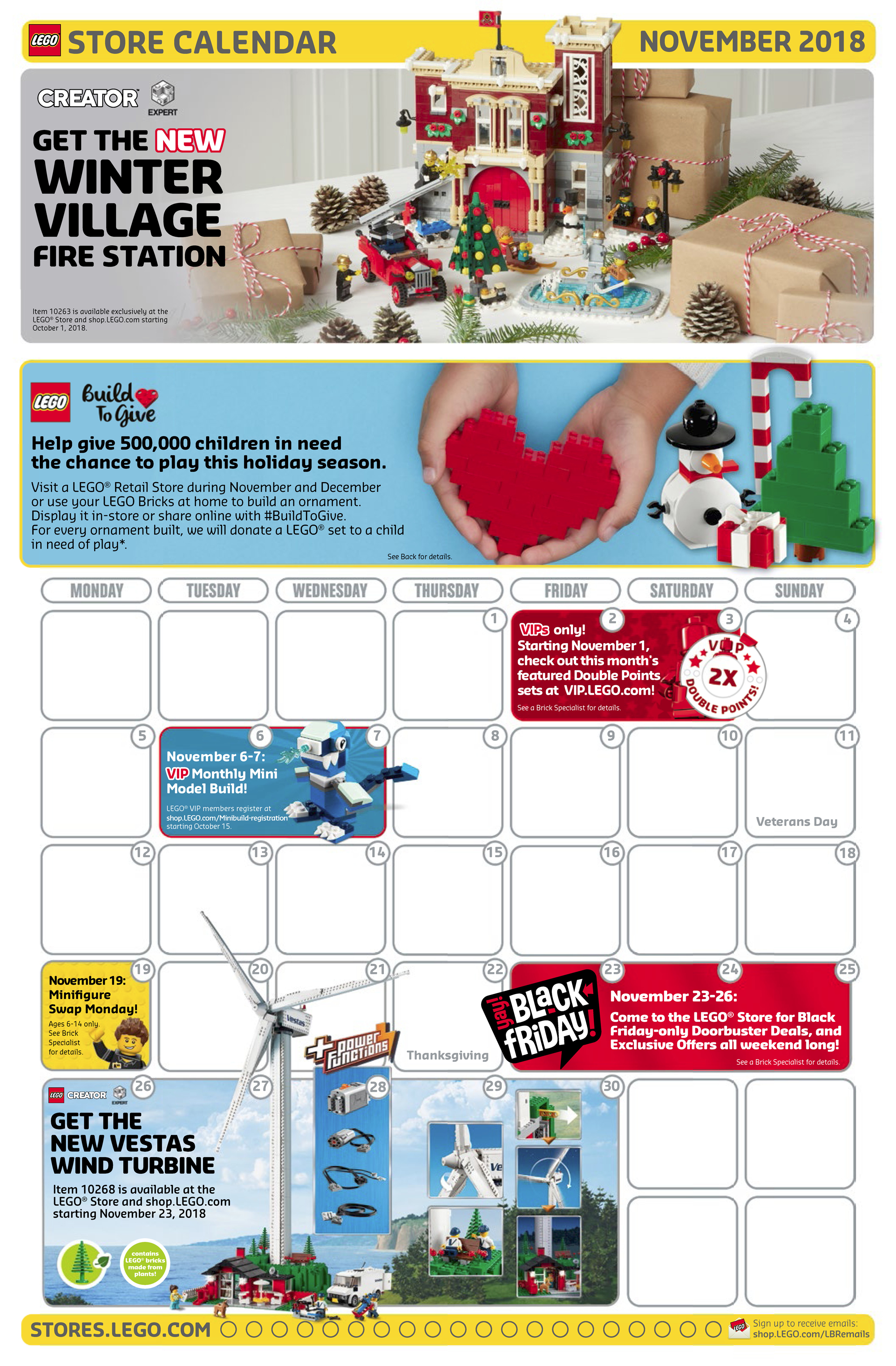 Lego November 2020 Calendar LEGO Store November 2018 Calendar Now Up With Its Latest Promotions