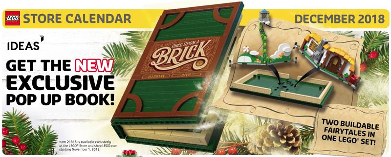 LEGO Store December 2018 Calendar