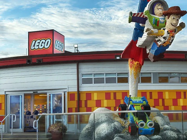 LEGO Store in Disney Springs, Disney World Joins Celebration of Mickey Mouse 90th Anniversary