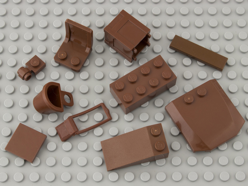 reddish brown bricks