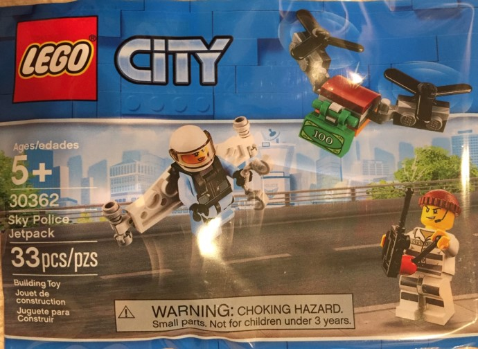 SPOTTED: New LEGO City Sky Police Jetpack (30362) Polybag