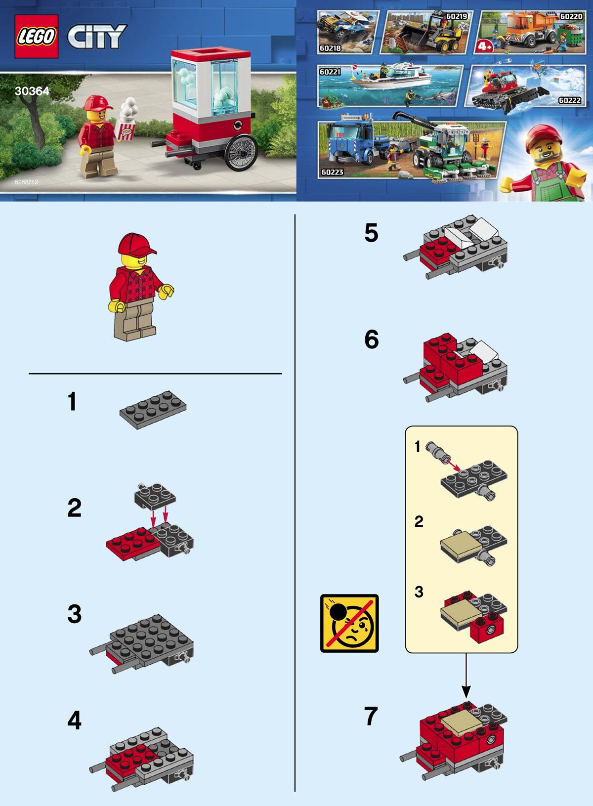 Lego City Popcorn Cart 30364 Polybag Discovered