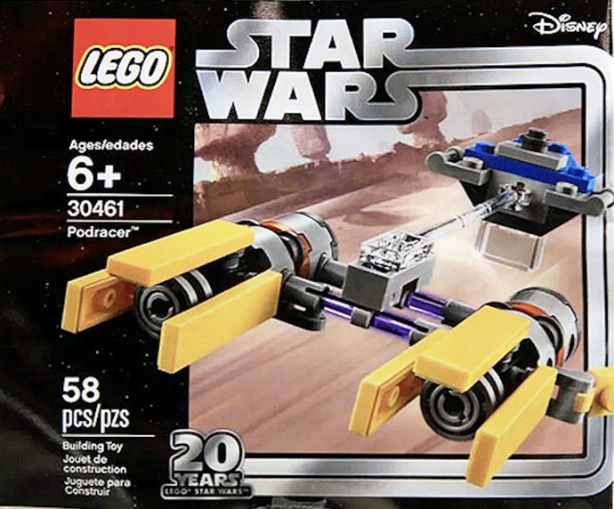 LEGO Star Wars Polybag (30461) Version of Anakin's Podracer – 20th Anniversary Version (75258) Seen at NYTF