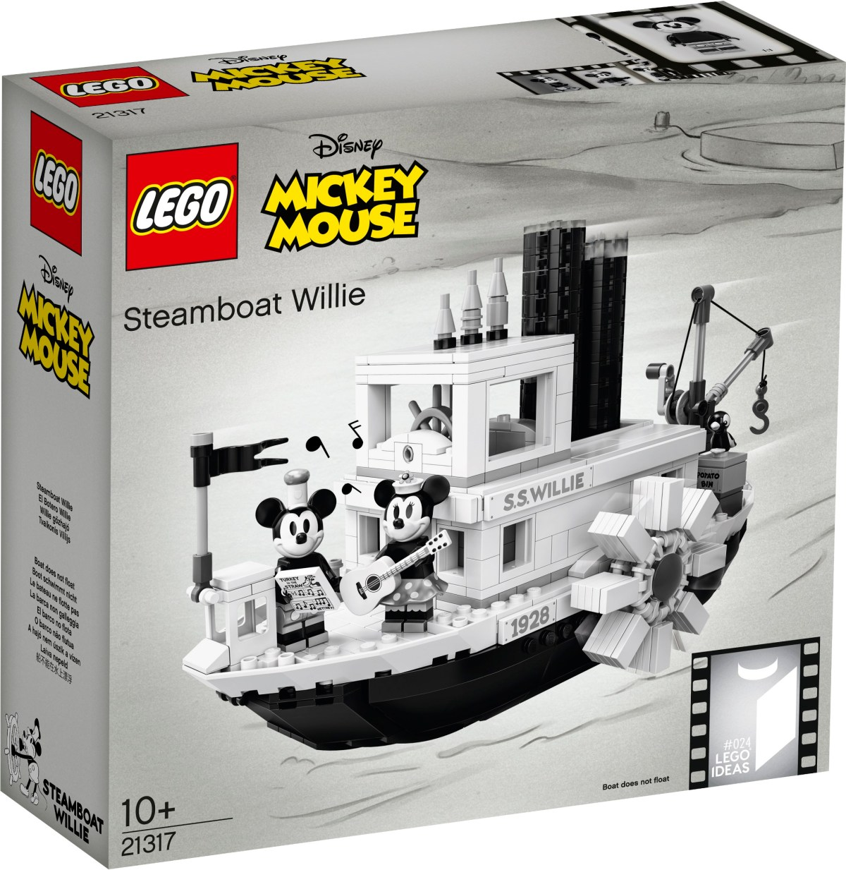 LEGO Ideas Disney Mickey Mouse – Steamboat Willie Set (21317) Officially Revealed
