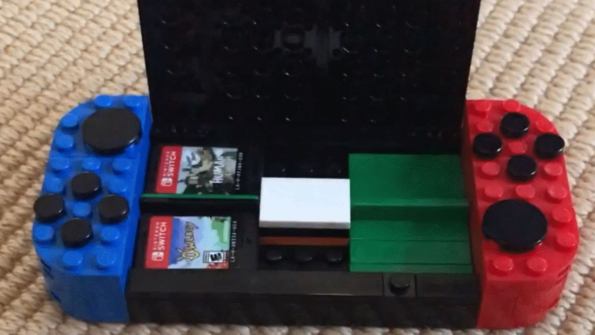 Nifty MOC Featured on Reddit: Nintendo Switch-Shaped Game Card Storage Case