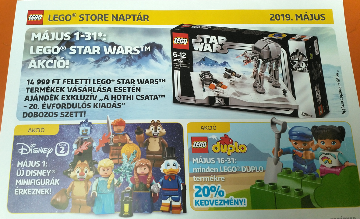 May Promotional LEGO Star Wars Set Seen in Hungarian LEGO Store Calendar