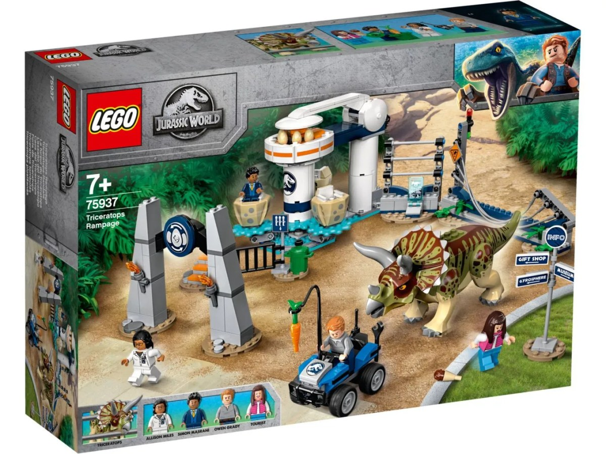 Official Box Image and Product Blurbs for LEGO Jurassic World: Legends of Isla Nublar