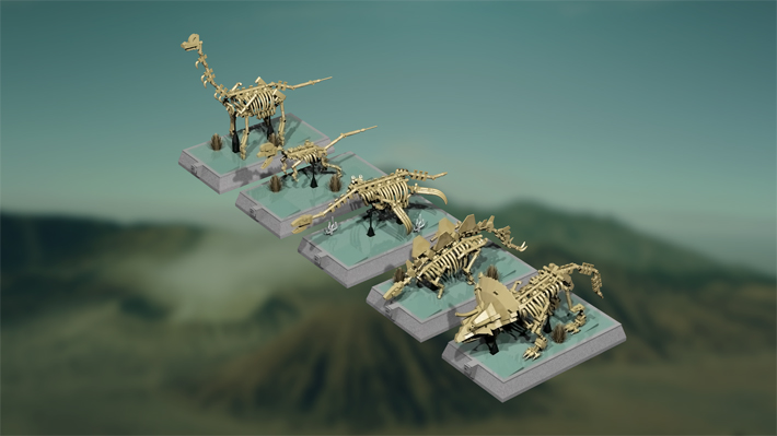 LEGO Ideas Dinosaur Fossils Skeletons