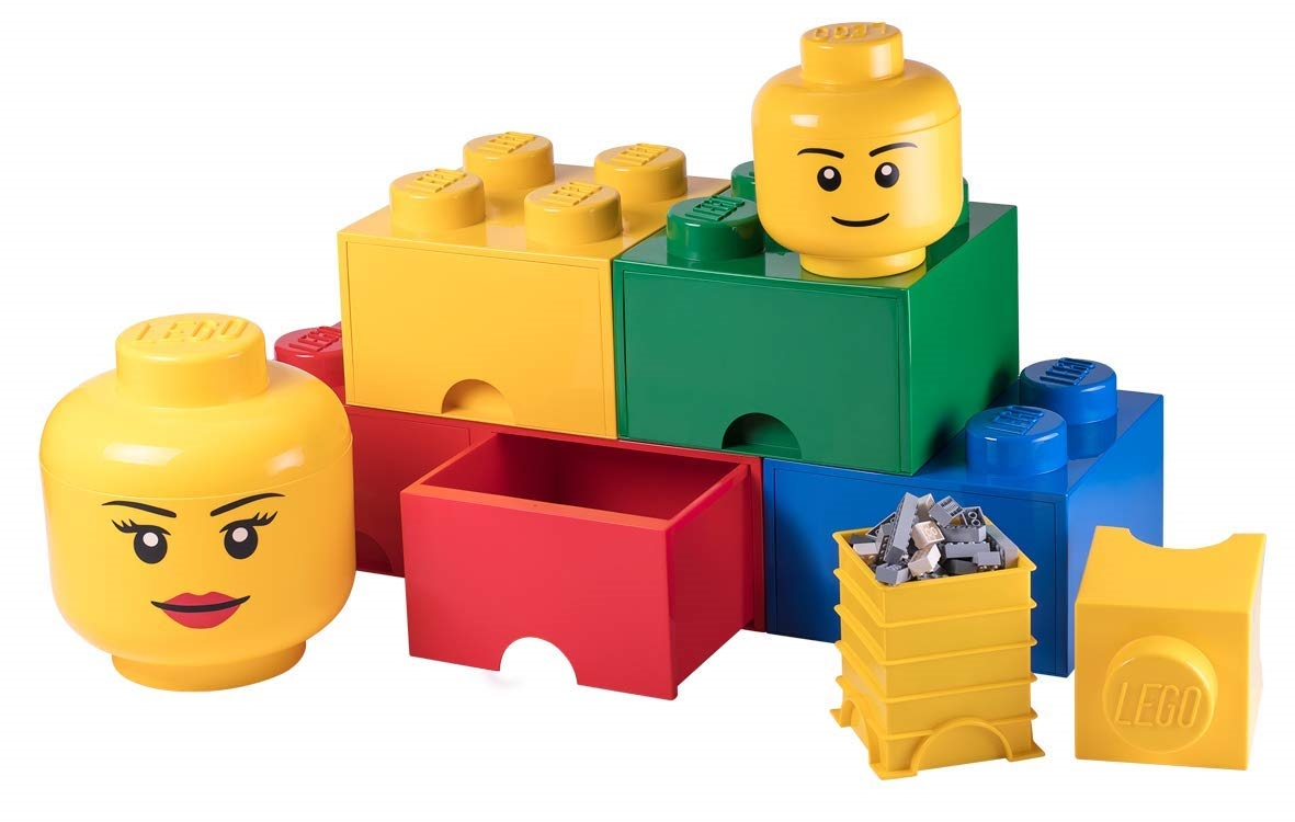 Another LEGO-Themed Accesory Line on Amazon: Minifigure-Head Storage Containers