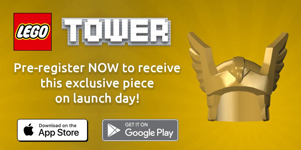 """LEGO-NimbleBit's """"LEGO Tower"""" Mobile Game Ready for Pre-Registration; Free Minifigure Accessory for Registrants"""