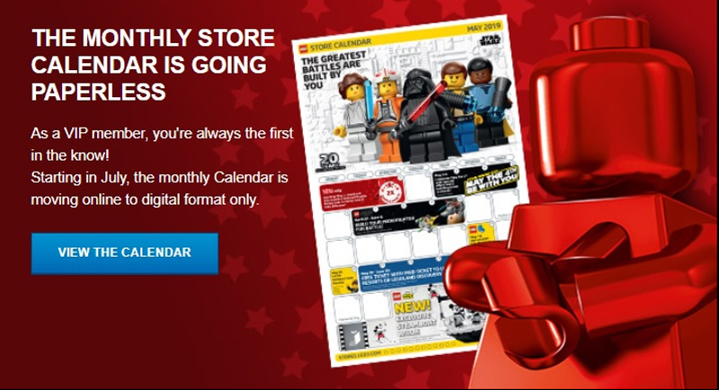 LEGO Store Calendars Will Only Be In Digital Versions Starting This July