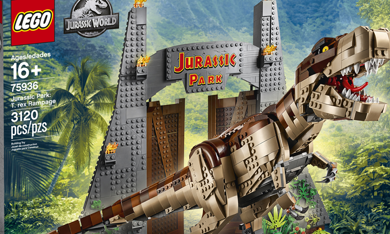 Massive LEGO Jurassic World Jurassic Park: T. rex Rampage (75936) Revealed