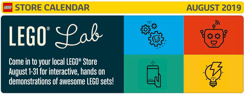 Here's a Look at What's Happening at LEGO Stores This August