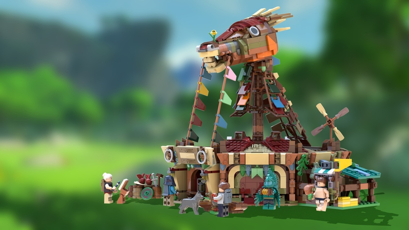 Legend of Zelda: BotW Stables Qualifies for the Third 2019 LEGO Ideas Review Stage