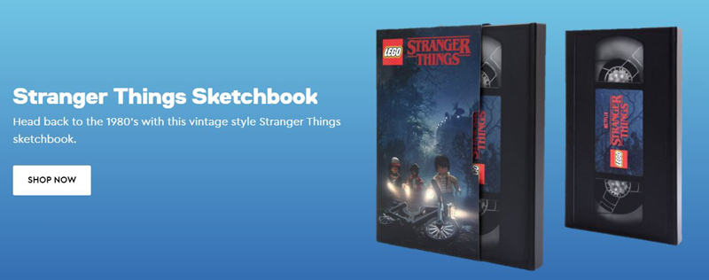 For VIPs Only: LEGO Stranger Things Sketchbook Now Available