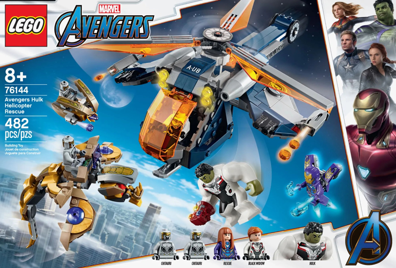 More Info On The LEGO Marvel Avengers Hulk Helicopter Rescue (76144)