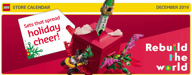 Take A Look at the December 2019 LEGO Store Calendar Highlights and Promotions
