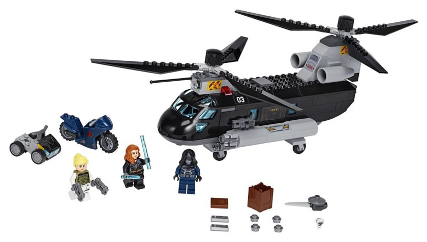 Black Widow's Helicopter Chase (76162)