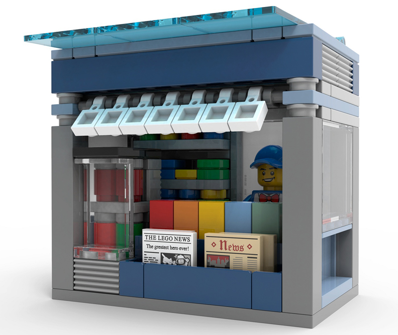 Add the LEGO Newsstand to Your Sprawling LEGO Town or City!