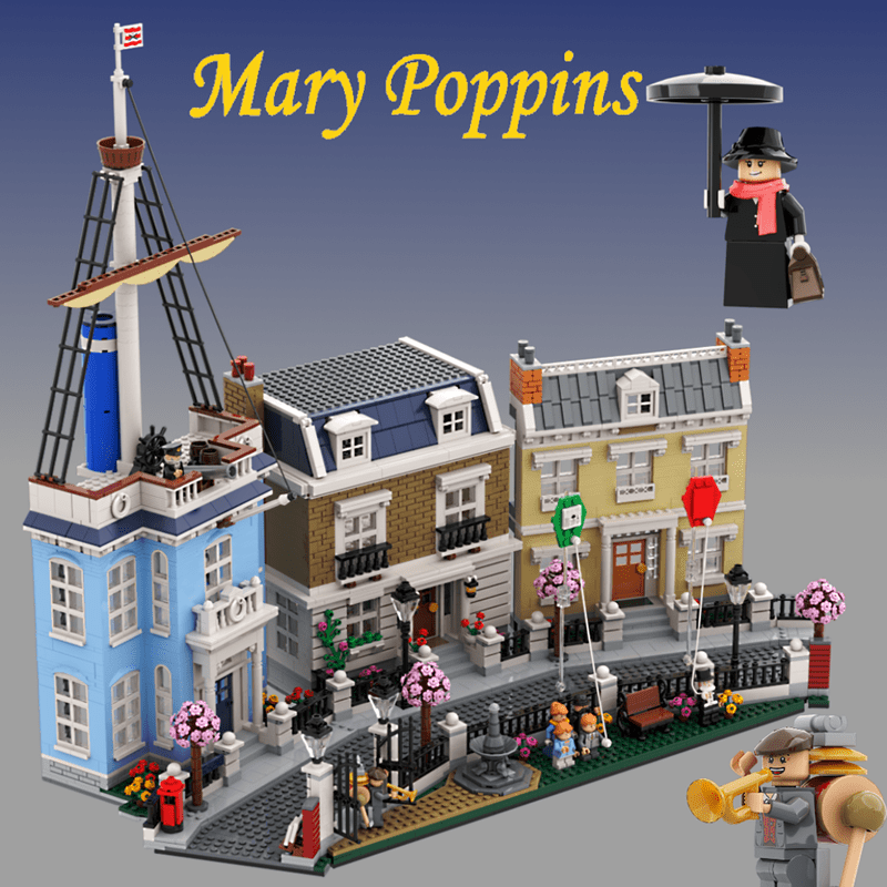 LEGO Ideas Mary Poppins, Cherry Tree Lane Product Idea Is Our First 10K Support Achiever for 2020