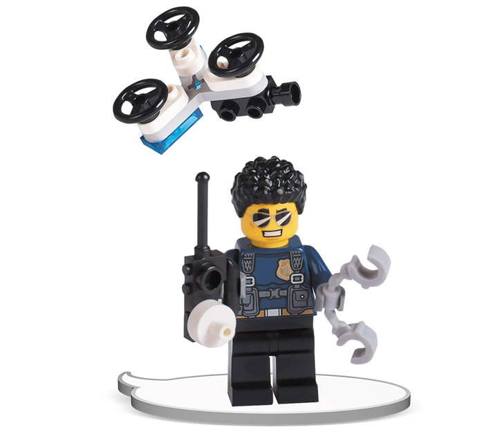 ☀️NEW Lot of 6 Lego Minifigure BLACK Arms Minifig body Star Wars Space City