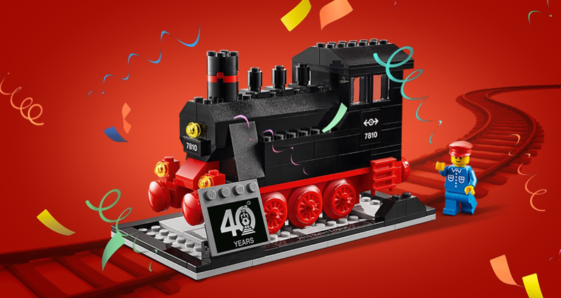 LEGO Trains 40th Anniversary (40370) Gift-With-Purchase Set Now Available