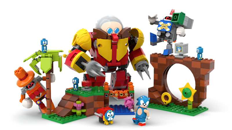 Sonic Returns in this LEGO Ideas Sonic Mania – Green Hill Zone Project
