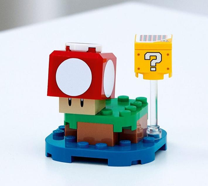 Lego Super Mario 30385 Super Mushroom Surprise Polybag 18 PC Connect To 71360