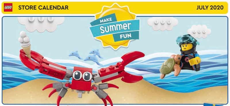LEGO Store July 2020 Store Calendar Is All About Summer Fun