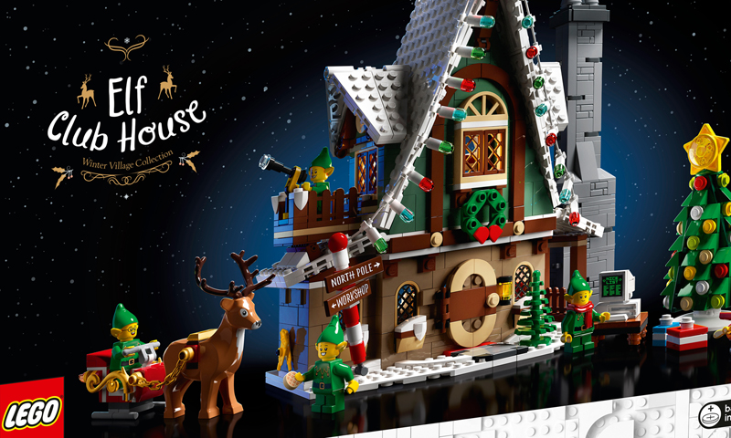 The LEGO Elf Club House (10275) Winter Village Set Now Listed at LEGO Shop@Home