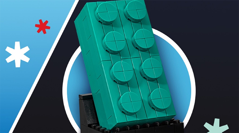 LEGO VIP Weekend Offering: the LEGO 2×4 Teal Brick (5006291)
