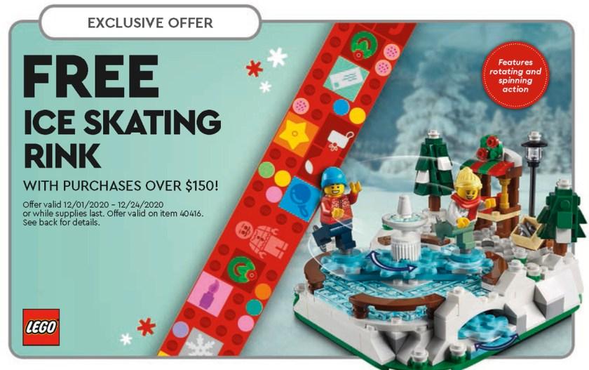 December 2020 LEGO Store Calendar