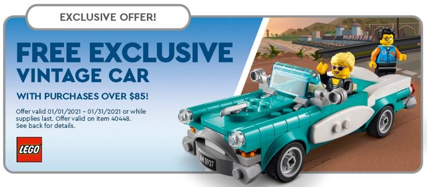 January 2021 LEGO Store Calendar