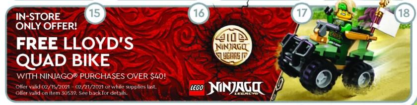 February 2021 LEGO Store Calendar