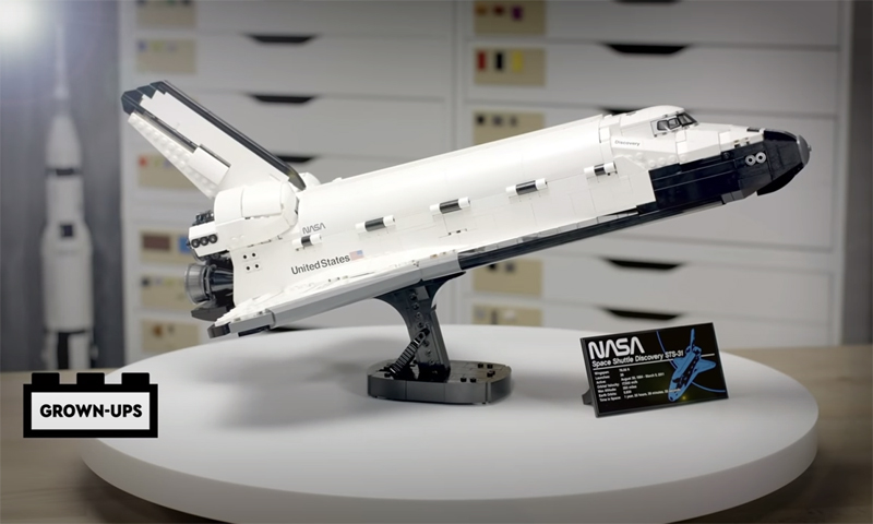 WATCH: LEGO NASA Space Shuttle Discovery (10283) Designer Video