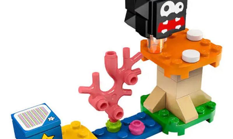 LEGO Super Mario Fuzzy & Mushroom Platform (30389) Polybag Revealed