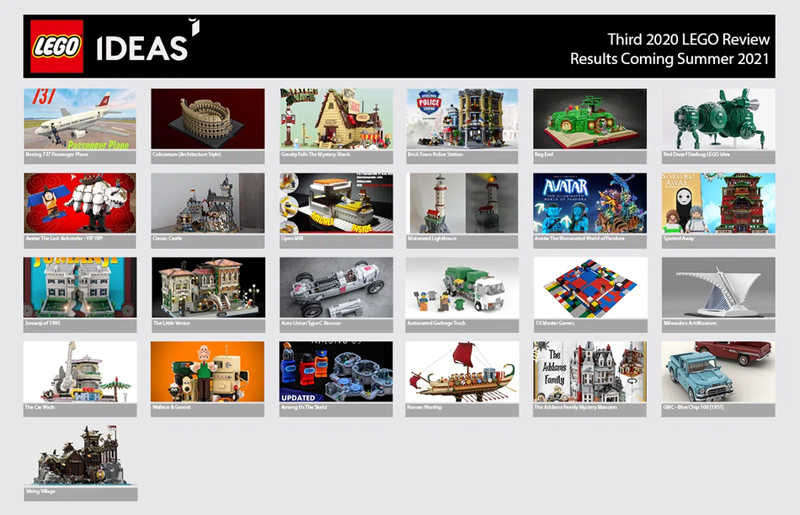 Heads Up! LEGO Ideas Third 2020 Review Stage Results Coming Soon