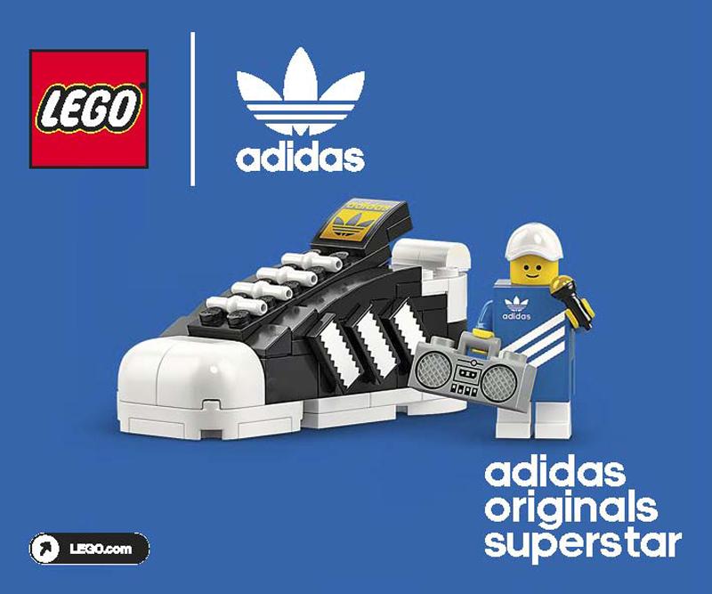 LEGO Mini Adidas Originals Superstar (40486) Building Instructions Now Up