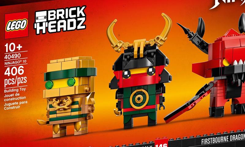 LEGO Ninjago 10th Anniversary BrickHeadz (40490) Back in Stock Via LEGO UK