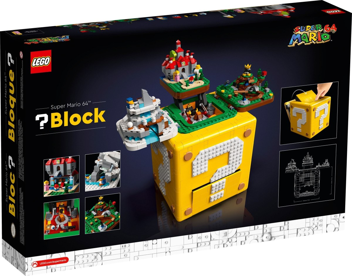 LEGO Super Mario 64 Question Mark Block (71395) Has One (Secret) Replicated Level to Reveal