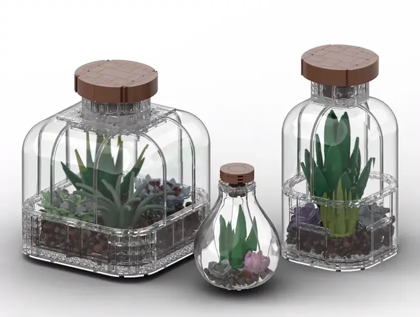 LEGO Ideas 10-K Member Galaxy333 Gets Terrariums Set Into Third 2021 Review Stage