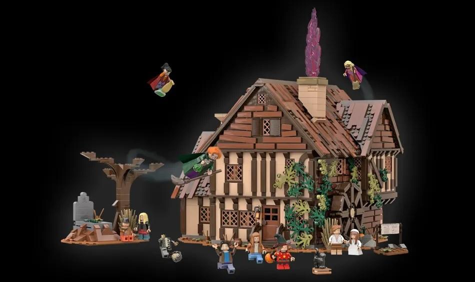 "Impressive ""Hocus Pocus"" Sanderson Cottage Gets 10-K Support on LEGO Ideas"
