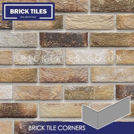 london weathered yellow bricks tile corners