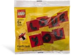 Offizielles LEGO Set 40016 zum Valentinstag 2011 im Polybag.