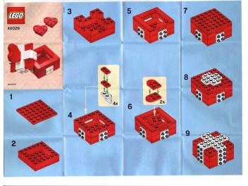Anleitung zu dem offiziellen LEGO Set 40015 zum Valentinstag 2012.