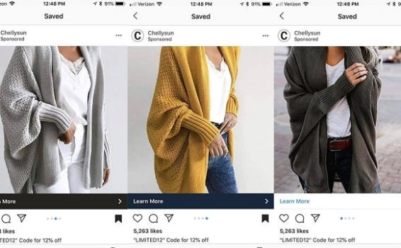 How to use Instagram sponsored posts to sell clothes