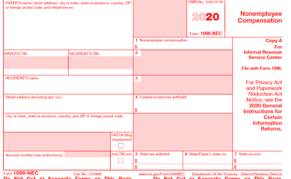 I received a Form 1099-NEC — what should I do?