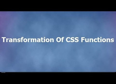 3D Transformation Functions in CSS